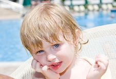 Free Little Girl In The  Pool Stock Photography - 9713962