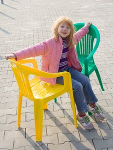Free Two Plastic Chairs Royalty Free Stock Photos - 9714248