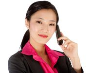 Free Businesswoman On The Phone Stock Photo - 9714490