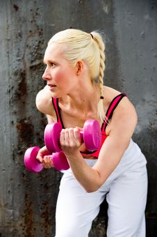 Free Blond Woman Working Out Stock Photo - 9714590