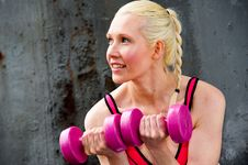 Free Blond Woman Working Out Stock Image - 9714751
