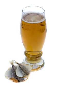 Food And Drinks: Beer And Fish Stock Photography