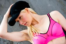Free Fit And Healthy Blond Working Out Royalty Free Stock Photos - 9715108