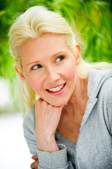 Free Beautiful Blond Female Relaxing In The Park Stock Photo - 9715210