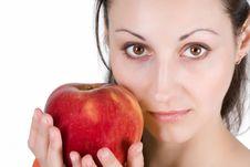 Free Woman Eating Apple Royalty Free Stock Image - 9715226