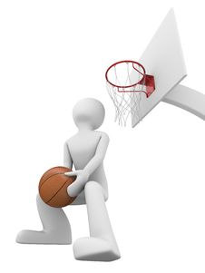 Free Basketball Slamdunk 2 Royalty Free Stock Photography - 9715717