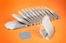 Free Tea Bags. Royalty Free Stock Photography - 9715737