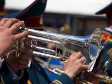 Free Military Musician Trumpet Stock Images - 9716084