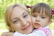 Free Happy Mother And Daughter Outdoor Summer Stock Image - 9716201
