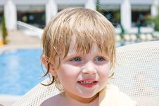 Free Little Girl In The  Pool Stock Photos - 9716243