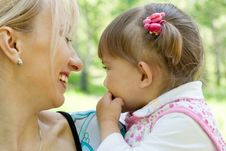 Free Happy Mother And Daughter Outdoor Summer Portrait Royalty Free Stock Photo - 9716405