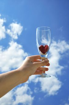 Heart In A Glass Stock Image