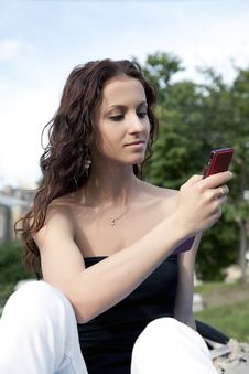 Free Woman With Mobile Phone Stock Photo - 9716710
