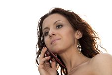 Free Woman With Mobile Phone Royalty Free Stock Photography - 9716757