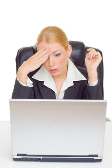 Free Businesswoman In Problem Stock Photography - 9716782