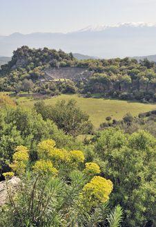 The Roman Amphitheater At Pinara Royalty Free Stock Image