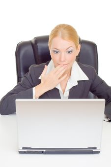 Free Businesswoman Expressing Suprise Stock Photo - 9716980