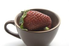 A Cup Of Strawberries Stock Photos