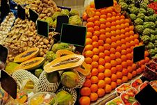 Free La Boqueria Stall. Stock Image - 9717221