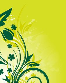 Free Green Floral Background Royalty Free Stock Photos - 9717378