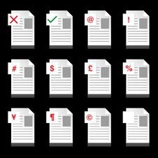 Document Business Icons Royalty Free Stock Images