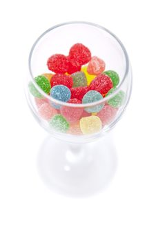 Free Glass With Candy Royalty Free Stock Photos - 9717898