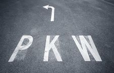 Free PKW Sign On Asphalt Stock Photography - 9718422