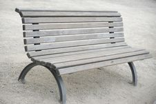 Free Park Wooden Bench. Royalty Free Stock Photography - 9718607