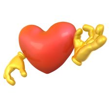 3d Love Character Mascot Stock Photography