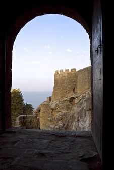 Free Medieval Fortress Of Knights Of Crusaders. Stock Image - 9719131