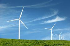 Free Wind Turbines Royalty Free Stock Photo - 9719135
