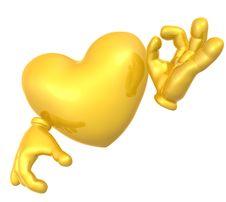 3d Love Character Mascot Royalty Free Stock Image