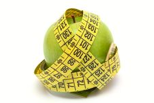 Free Apple With Measure Tape Stock Images - 9719544