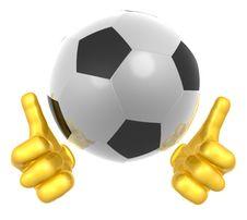 Free Soccer Ball Mascot Stock Photo - 9719650