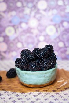 Free Homemade, Sweet, Delicious Blackberries Stock Photography - 97108162