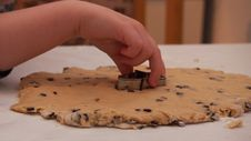 Free Child Baking Cookies Stock Images - 97145984