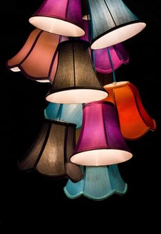 Free Lighting Accessory, Lampshade, Lighting, Purple Royalty Free Stock Photography - 97147257