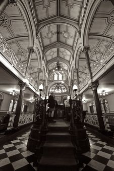 Free Black And White, Landmark, Arcade, Monochrome Photography Royalty Free Stock Image - 97151786