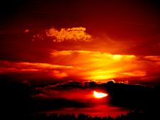 Free Sky, Afterglow, Red Sky At Morning, Sunset Royalty Free Stock Images - 97166259
