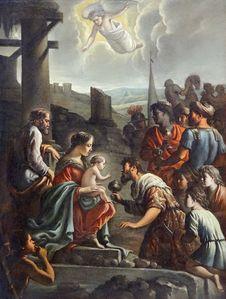 Free &x22;L Adoration Des Mages&x22;, Mathieu Le Nain, Vers 1660-1665. Meaux, Musée Bossuet. Royalty Free Stock Image - 97187086