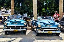 Free Blue Convertible Vintage Car Parked During Daytime Stock Photo - 97187280