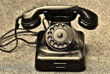 Free Black Rotary Telephone Stock Image - 97187341