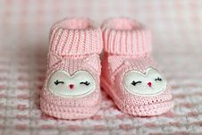 Free Close-up Of Pink Baby Booties Royalty Free Stock Image - 97187516