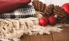 Free Close-up Of Christmas Decorations On Table Stock Photos - 97187753