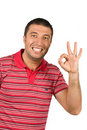 Free Handsome  Showing Okay Sign Royalty Free Stock Photography - 9729787