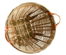 Rattan Basket With Clipping Path Royalty Free Stock Image
