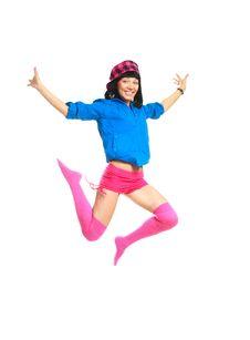 Free Happy Jumping Girl Stock Photos - 9722133