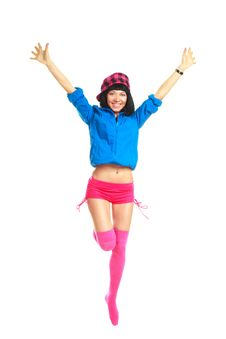 Free Happy Jumping Girl Royalty Free Stock Images - 9722139