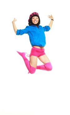 Free Happy Jumping Girl Stock Photos - 9722453