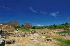 Archaeological Site Of Morgantina Royalty Free Stock Image